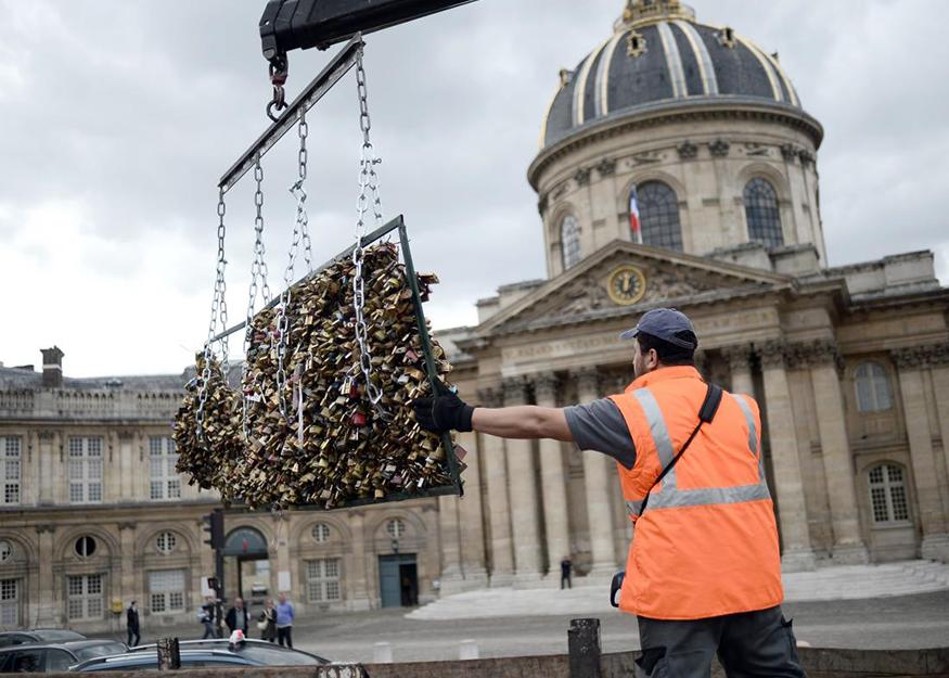 Os cadeados foram retirados em 2015. (Getty Images)