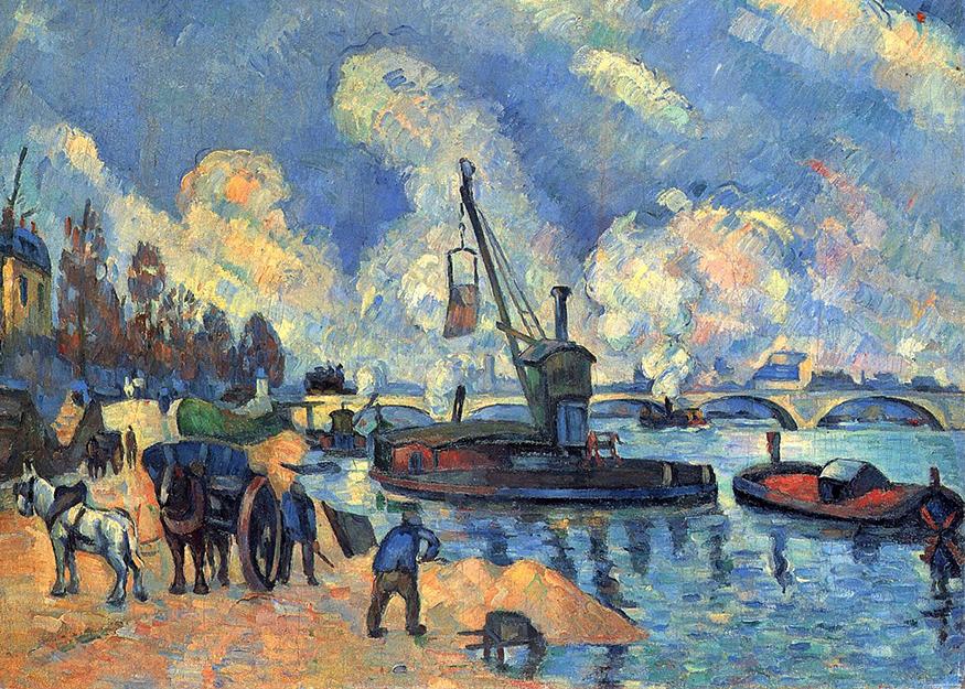 La Seine au quai d'Austerlitz, d'après Guillaumin